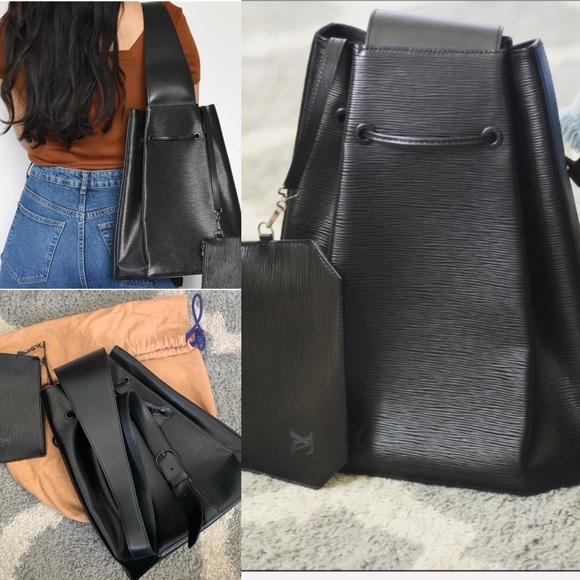 🖤RARE🖤 LV Epi Backpack sling In Noir